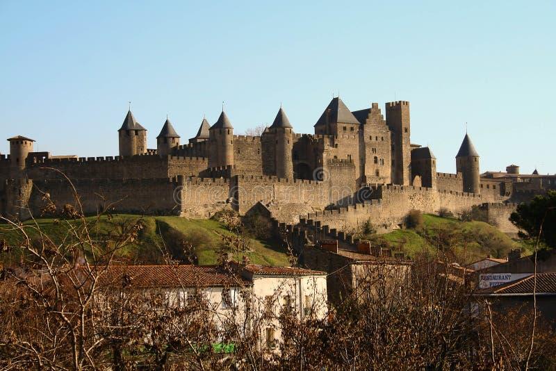 Carcassonne, die alte Stadt, Frankreich stockfotos