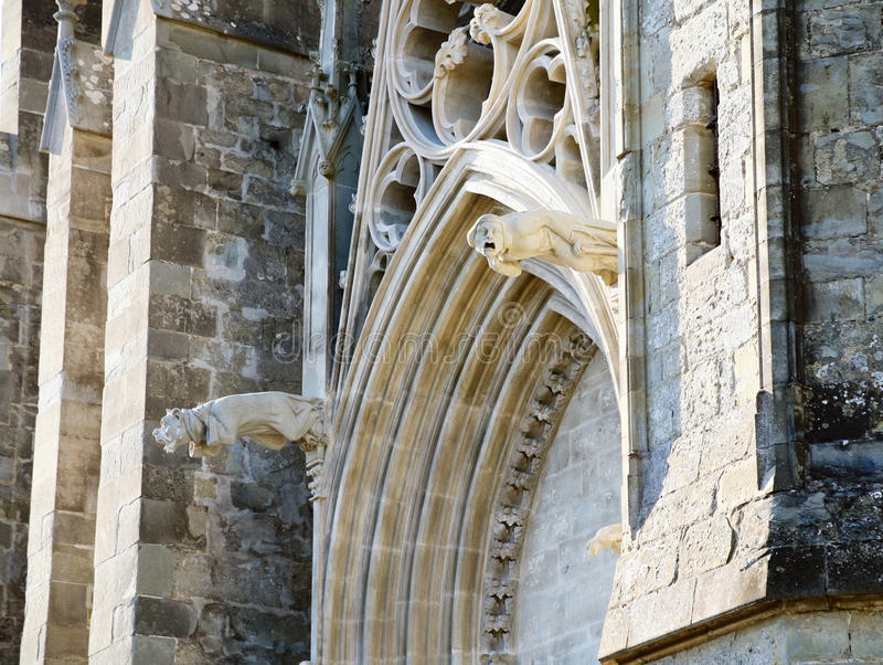carcassonne domkyrka france arkivbilder