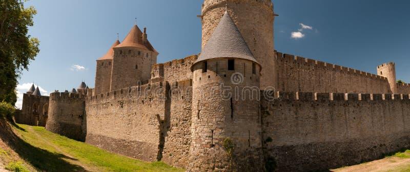 Carcassonne, em France foto de stock
