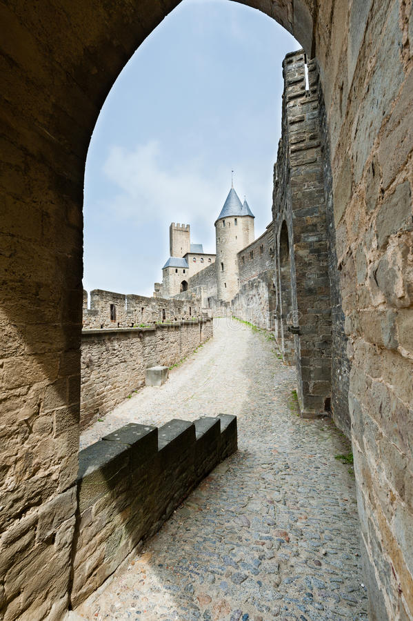 Carcassonne-Festung lizenzfreies stockfoto