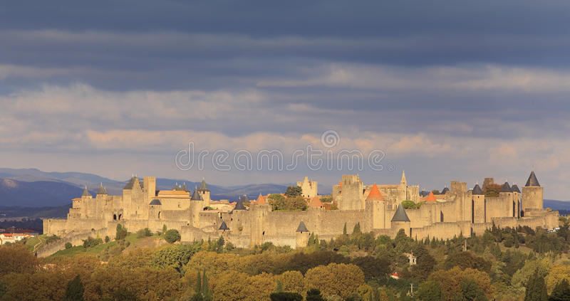 Download Carcassonne-fortified town stock photo. Image of ancient - 16720718