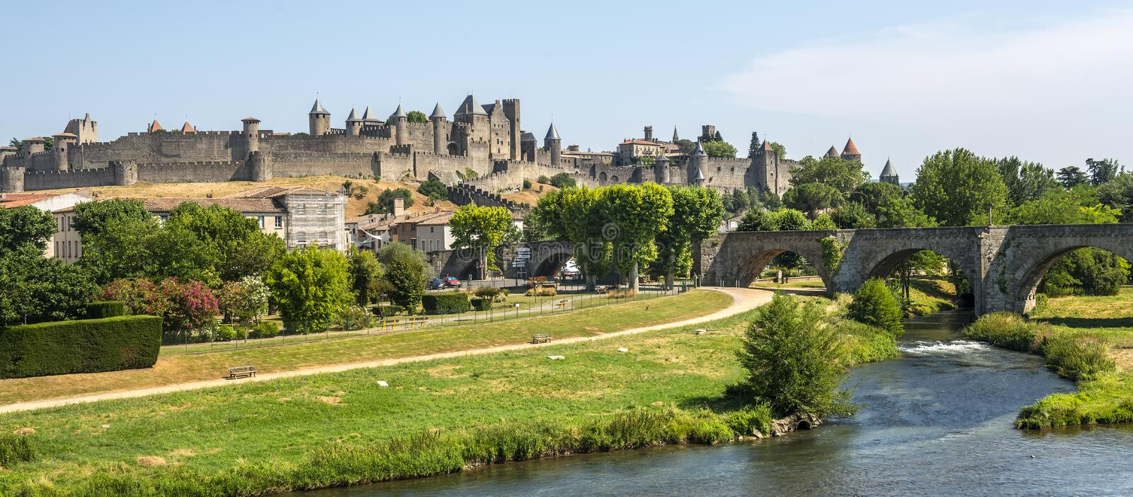 Download Carcassonne (France) stock image. Image of summer, outdoor - 35511239