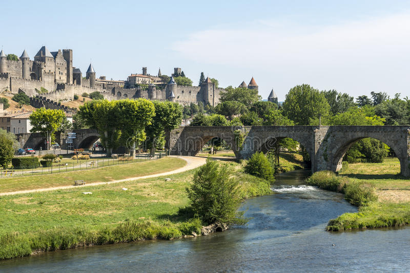Download Carcassonne (France) stock photo. Image of river, french - 35270666