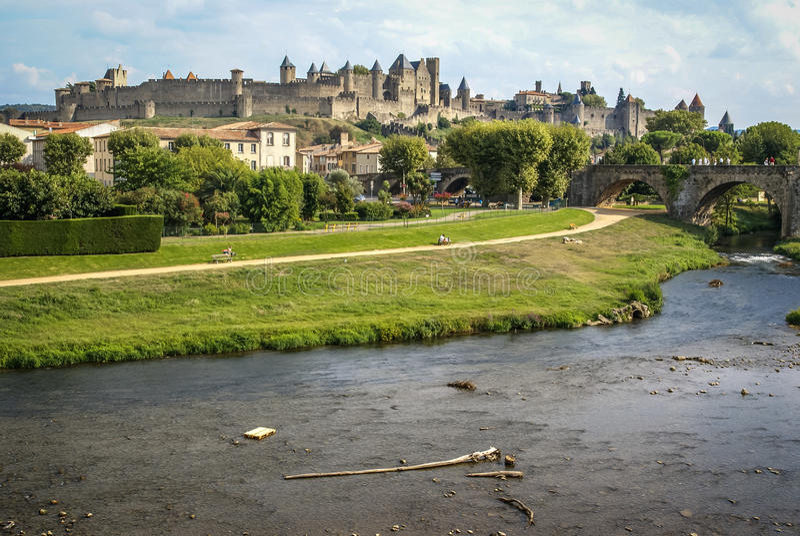 Carcassonne, France du sud images stock