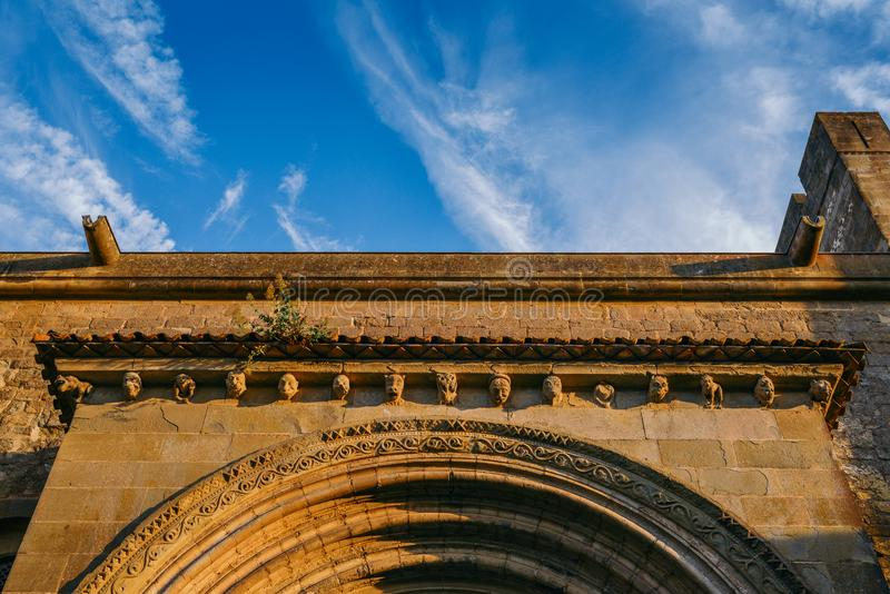 Gargoyle or gargouille - Carcassonne, France. Carcassonne, France - June 14th, 2018: Gargoyle or gargouille - Carcassonne France stock image