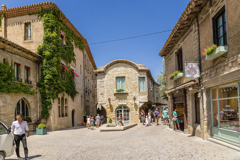 Carcassonne France One Of The Streets Of The Old Town Editorial