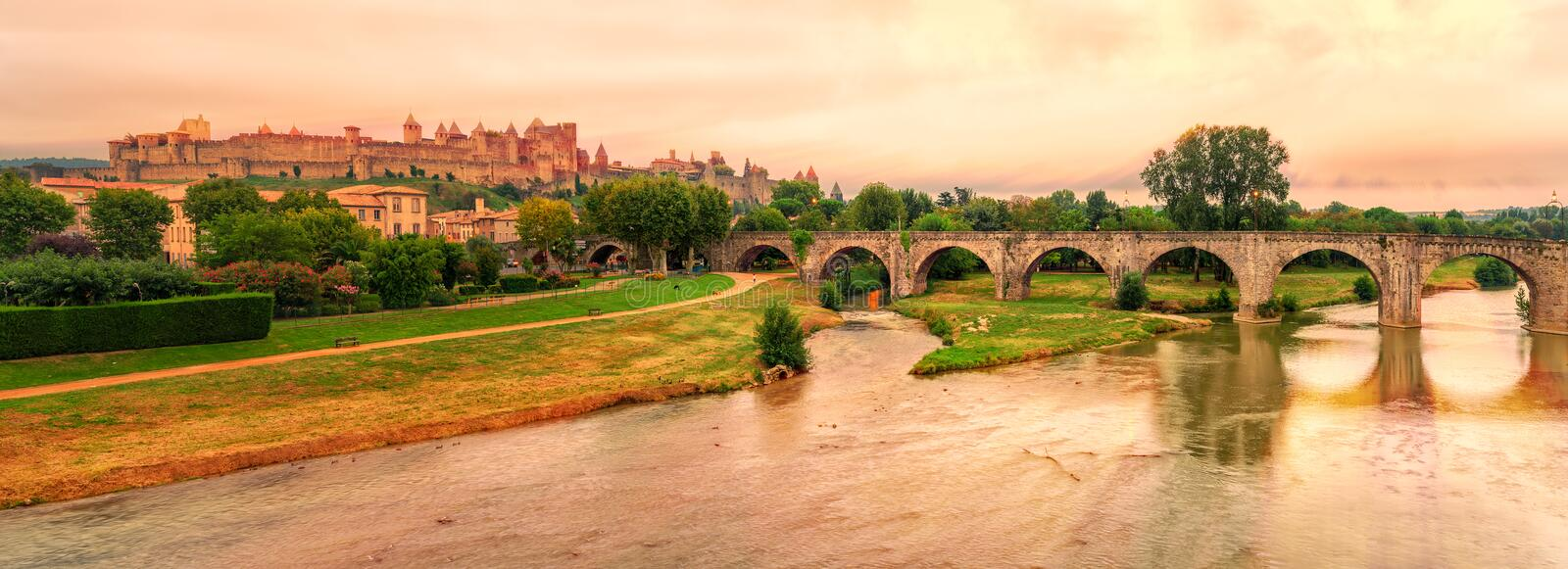 Carcassonne, France stock photography