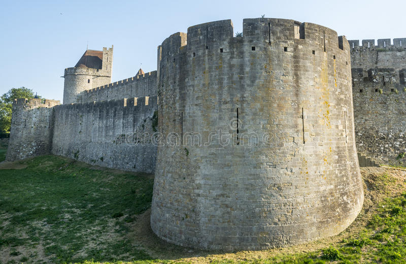 Carcassonne (Francia) immagine stock