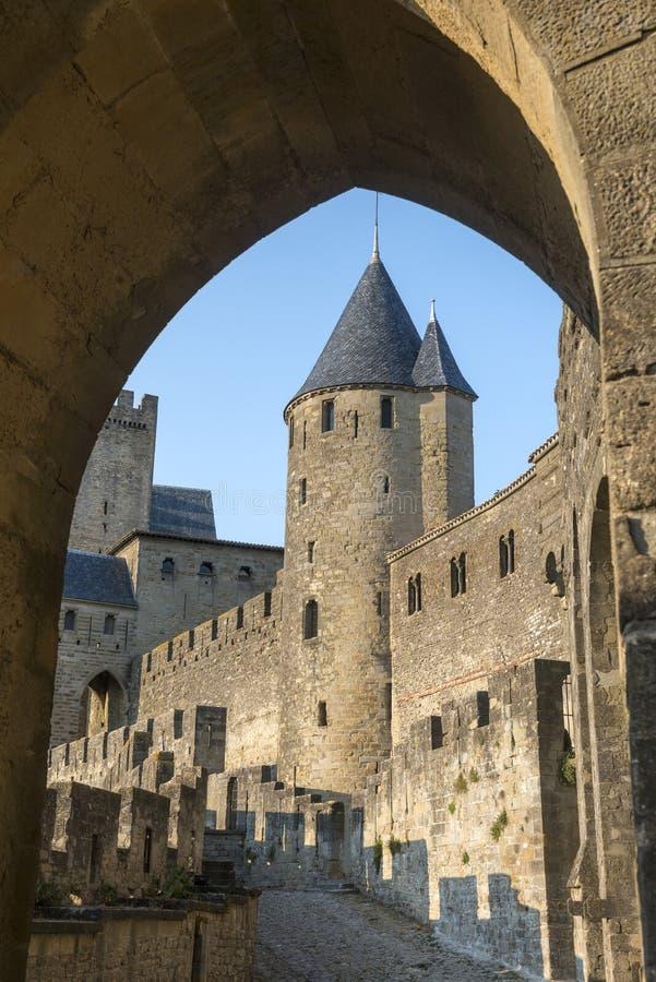 Carcassonne (Francia) fotografie stock libere da diritti