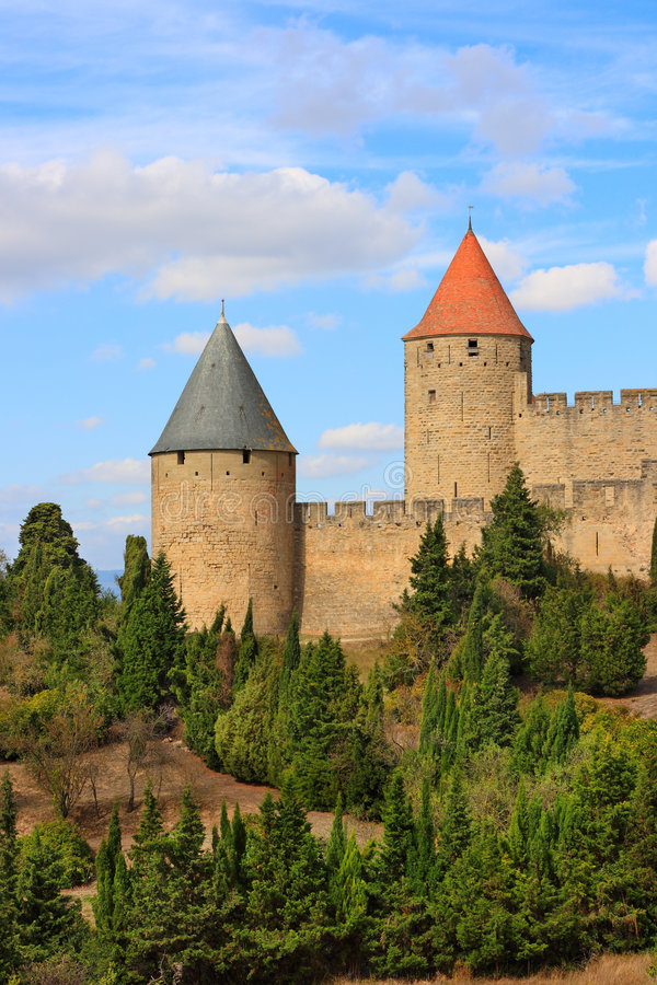 Carcassonne (Frankreich) stockfotos