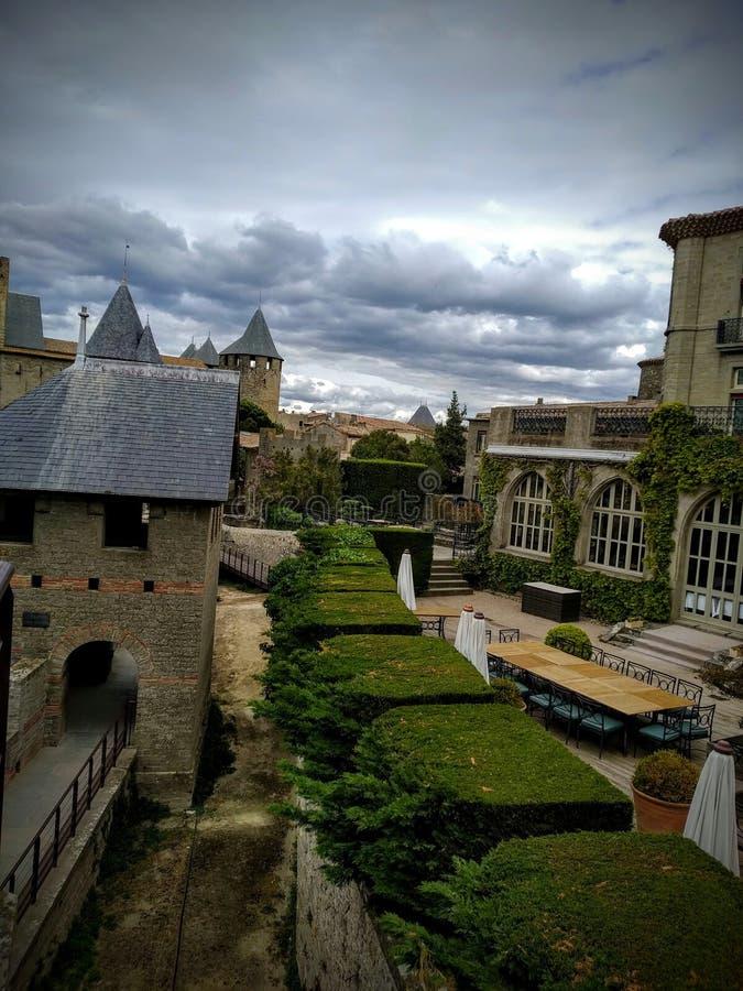 Carcassonne, Frankrijk Het kasteel stock afbeelding