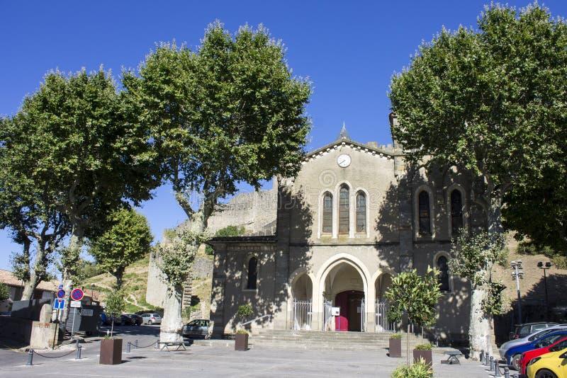 Carcassonne Frankrike fotografering för bildbyråer