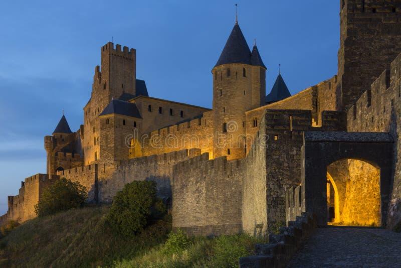 Carcassonne - Frankrike royaltyfria foton