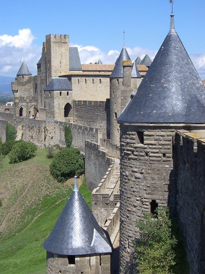 carcassonne grodowy cit de France zdjęcie stock