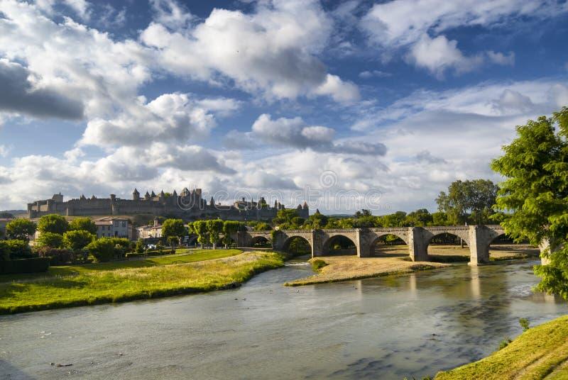 Carcassonne (l'Aude, Frances) images libres de droits