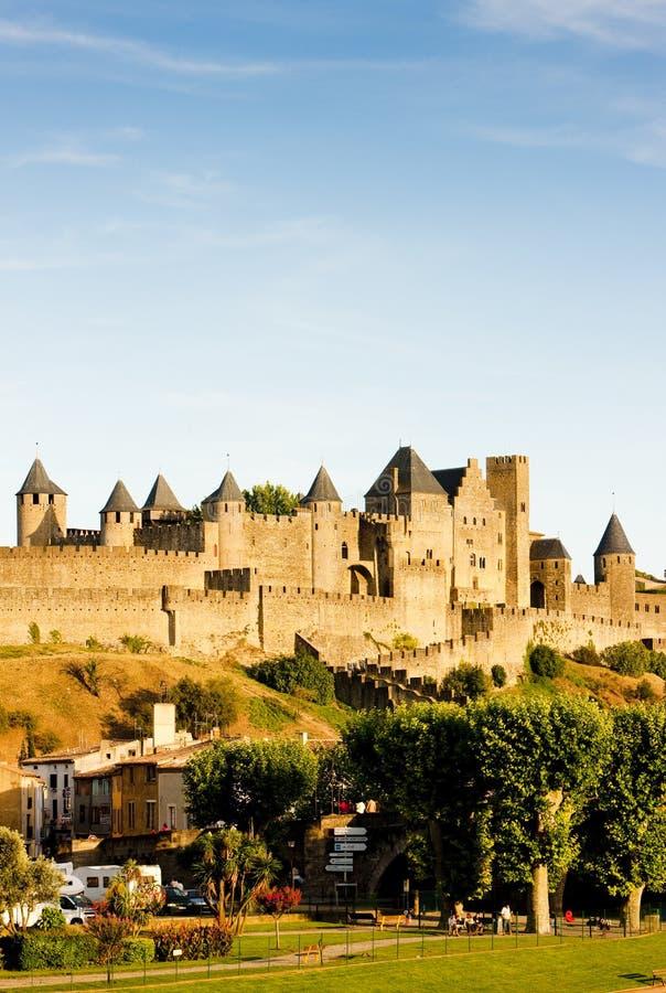 Carcassonne, Languedoc Roussillon, França fotos de stock royalty free