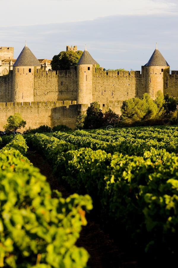 Carcassonne, Languedoc Roussillon, Francja obraz royalty free