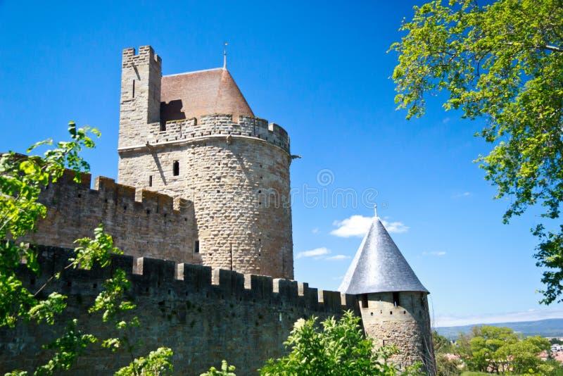 Carcassonne, Languedoc Roussillon, Frankreich stockbild