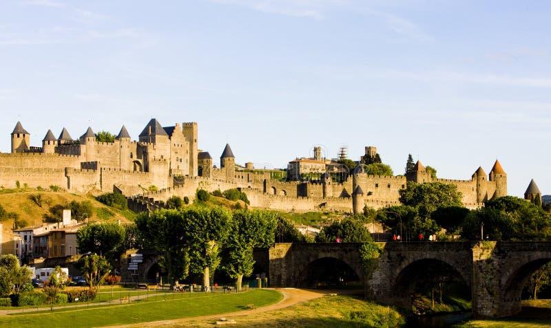 Carcassonne, Languedoc-Roussillon, Frankreich lizenzfreies stockbild