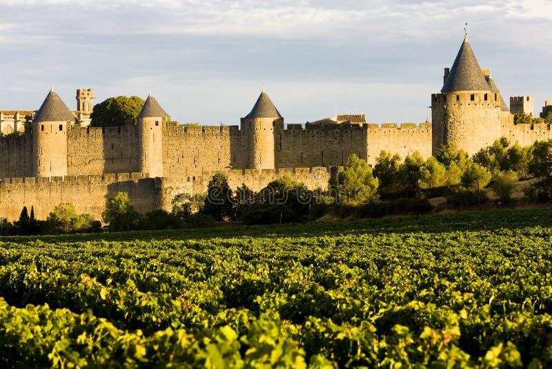 Carcassonne, Languedoc-Roussillon, Frankreich lizenzfreie stockfotografie