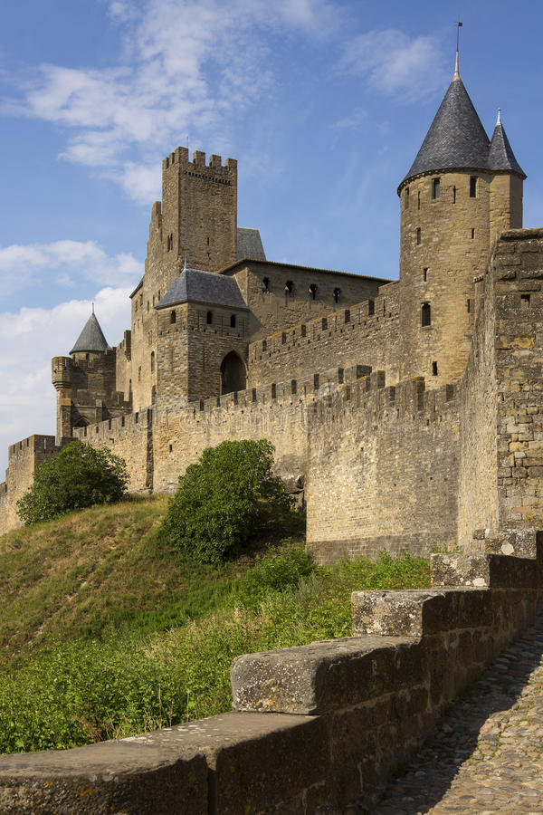 Carcassonne Medieval Fortress - France royalty free stock images