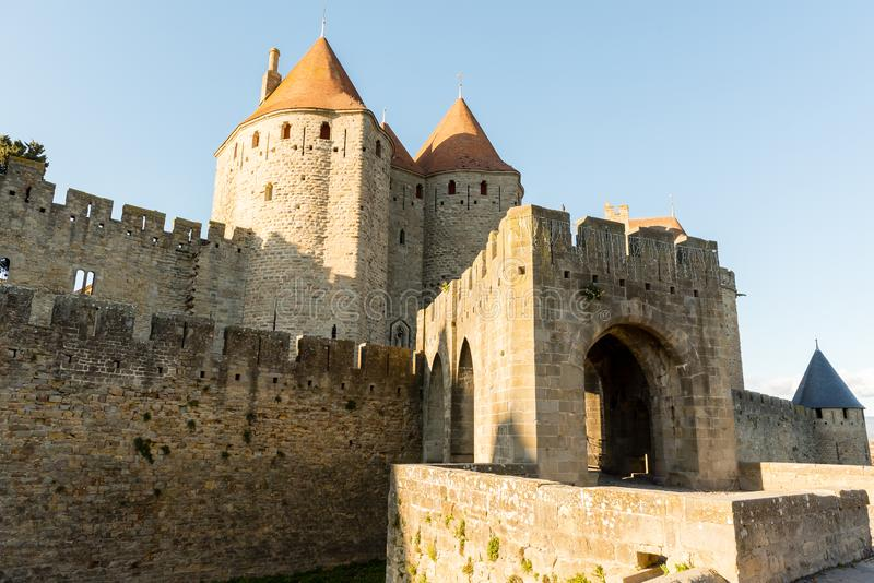 Carcassonne Occitania, Frankrike royaltyfri foto