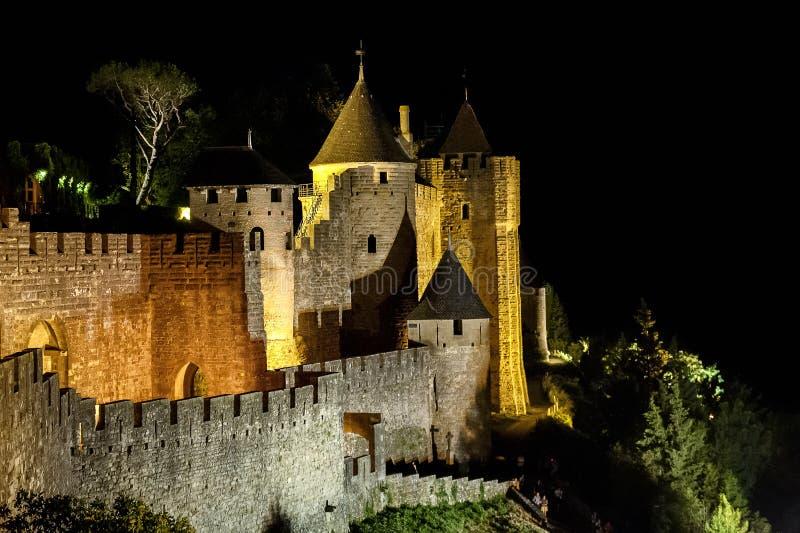 Carcassonne - une ville française enrichie france photographie stock libre de droits