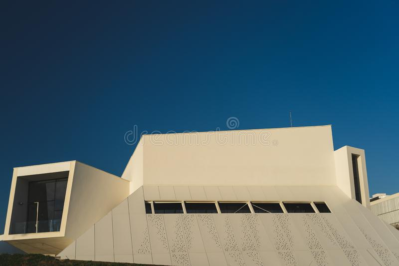 Carcavelos, Portugal - 12/31/18 : Éducation exécutive de Nova University images stock