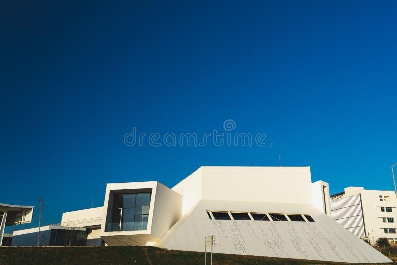 Carcavelos, Portugal - 12/31/18 : Éducation exécutive de Nova University photo stock
