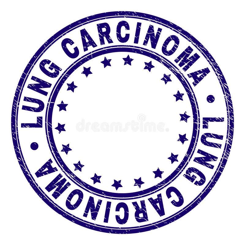 CARCINOOM van de Grunge het Geweven LONG om Zegelverbinding vector illustratie