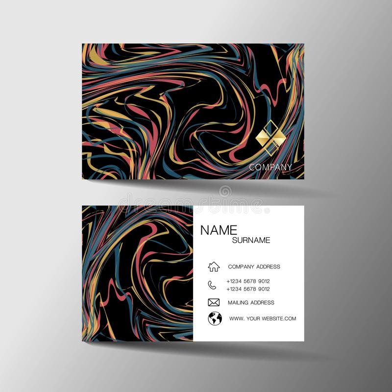 Modern business card template design. With inspiration from abstract line. Contact card for company. royalty free illustration