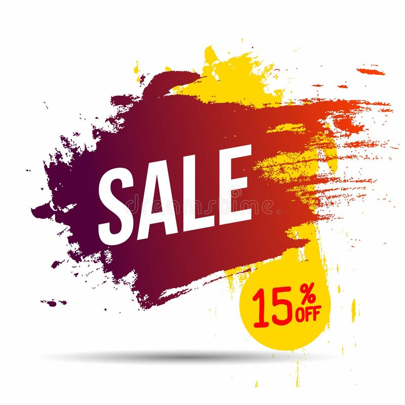 Banner discount sale 15 percen off design. Inspired by the abstract on white background.Vector illustration. vector illustration