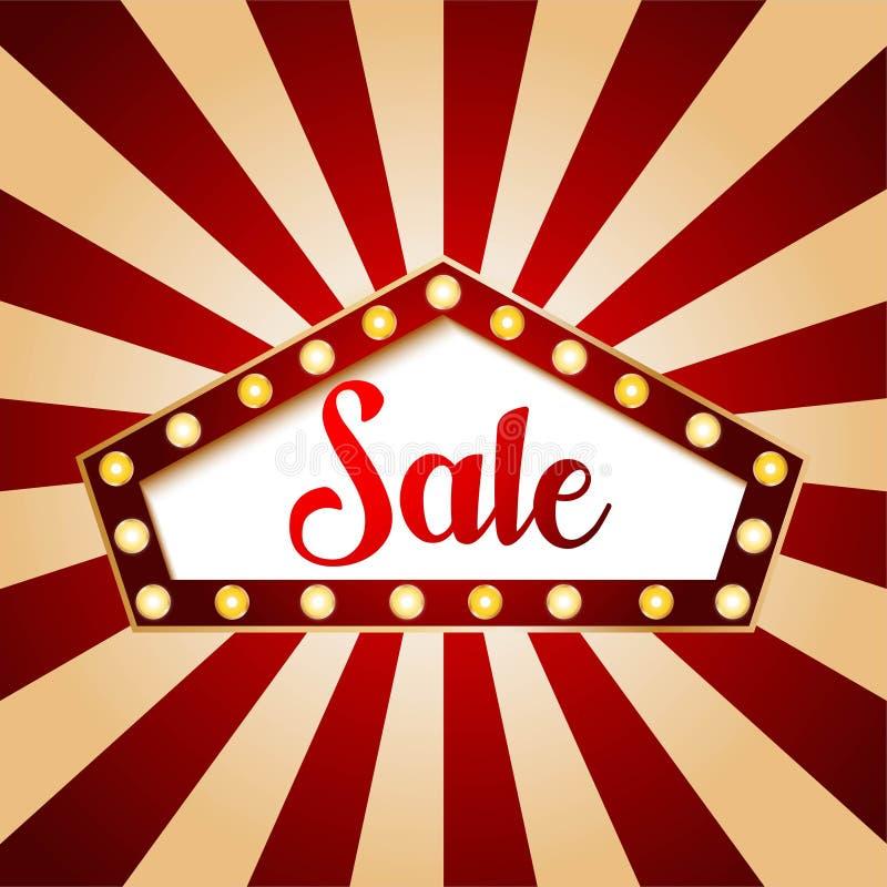 Casino sale banner pentagon design. Red color on vintage background illustration vector. Casino sale banner pentagon design. Red color on vintage background vector illustration