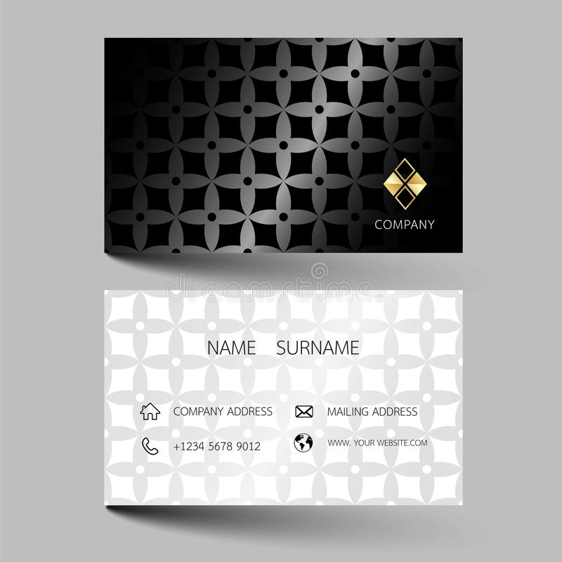 Creative business card design on the gray background. With inspiration from the abstract. Vector illustration EPS10 stock illustration
