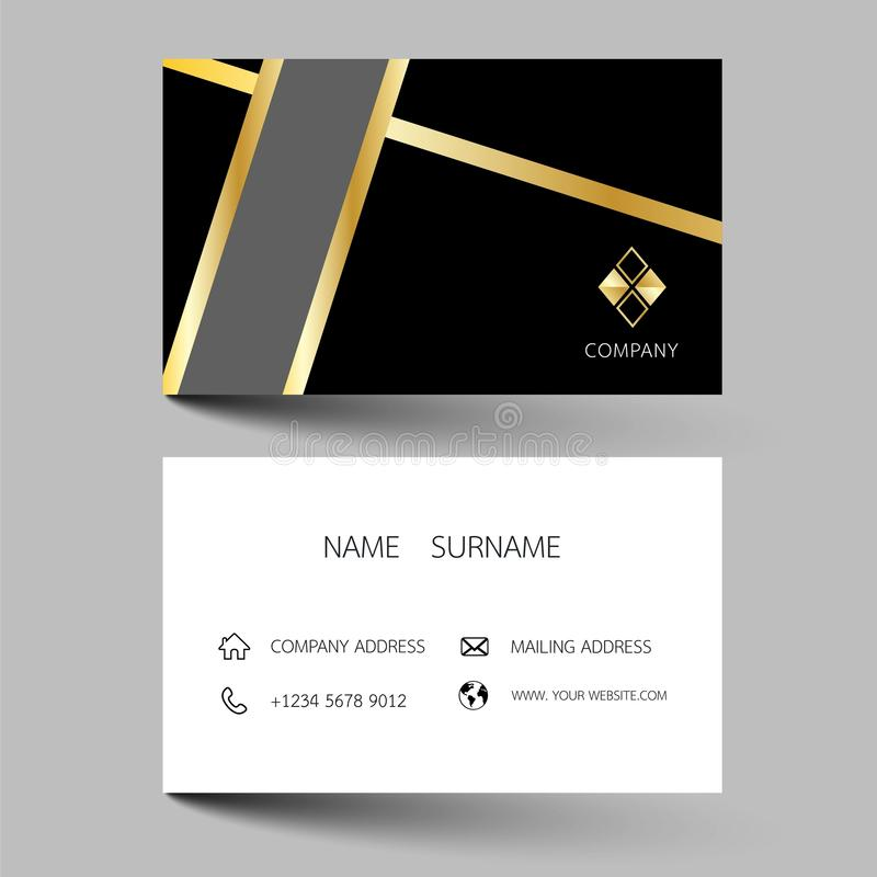 Creative business card design on the gray background. With inspiration from the abstract stock illustration