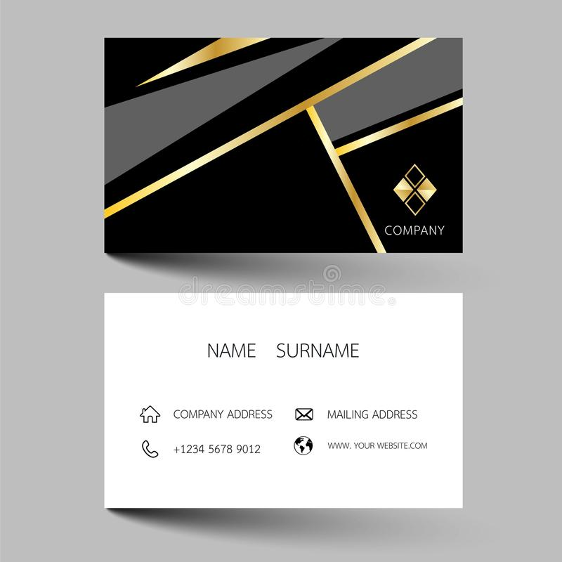 Creative business card design on the gray background. With inspiration from the abstract. Vector illustration EPS10 vector illustration