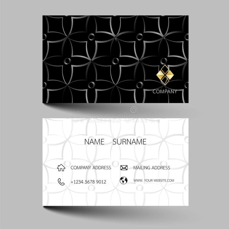 Creative business card design on the gray background. With inspiration from the abstract. Vector illustration EPS10 royalty free illustration