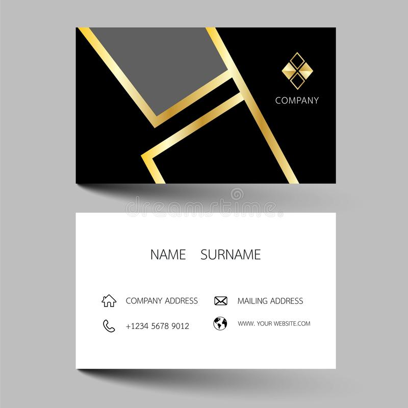 Creative business card design on the gray background. With inspiration from the abstract royalty free illustration