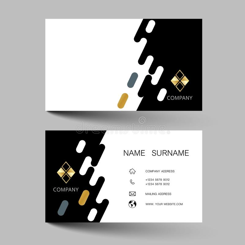 Creative and black business card design. With inspiration from the abstract. Vector illustration EPS10 stock illustration
