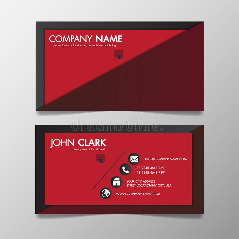 Red and black modern creative business template patterned and name card,horizontal simple clean vector design minimal icon concept vector illustration