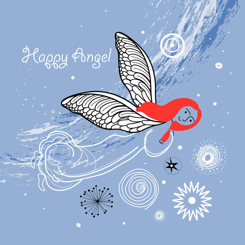Download Card with an angel stock vector. Illustration of wings - 23445073