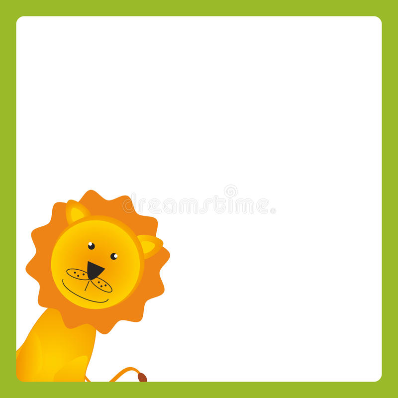 Download Card with animal stock vector. Image of funny, color - 24378861