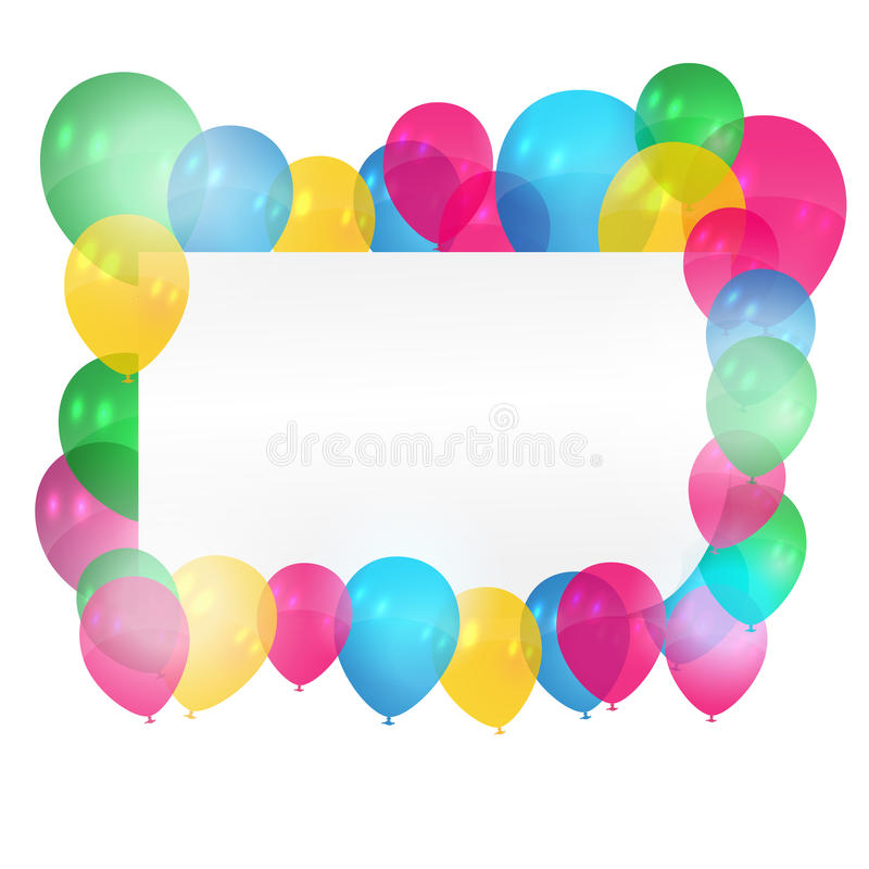 Download Card with balloons stock vector. Illustration of happy - 26660295
