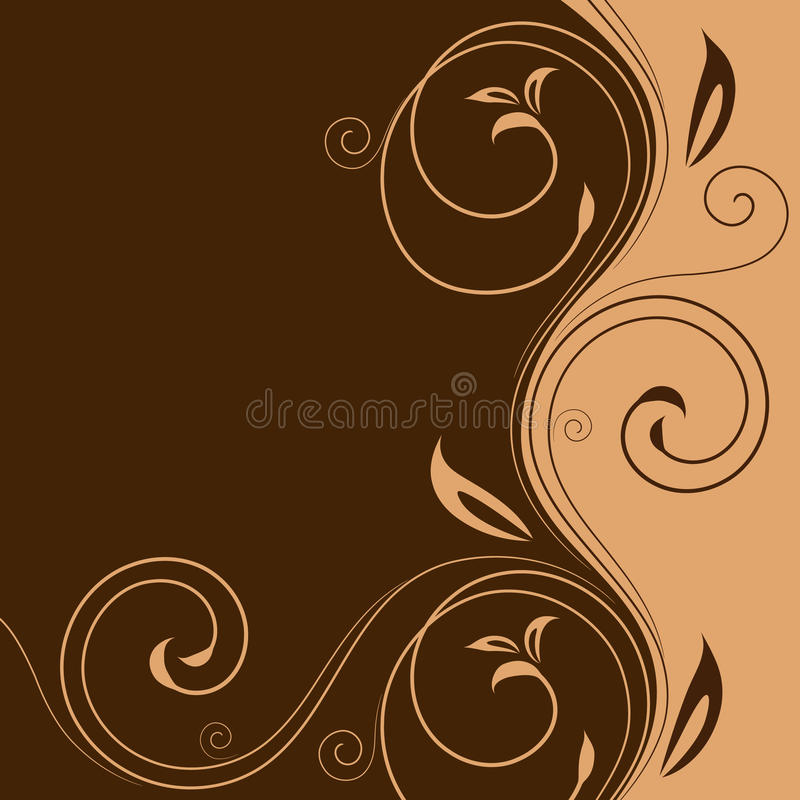 Download Card With Beige Curled Lines Stock Vector - Illustration: 13708360