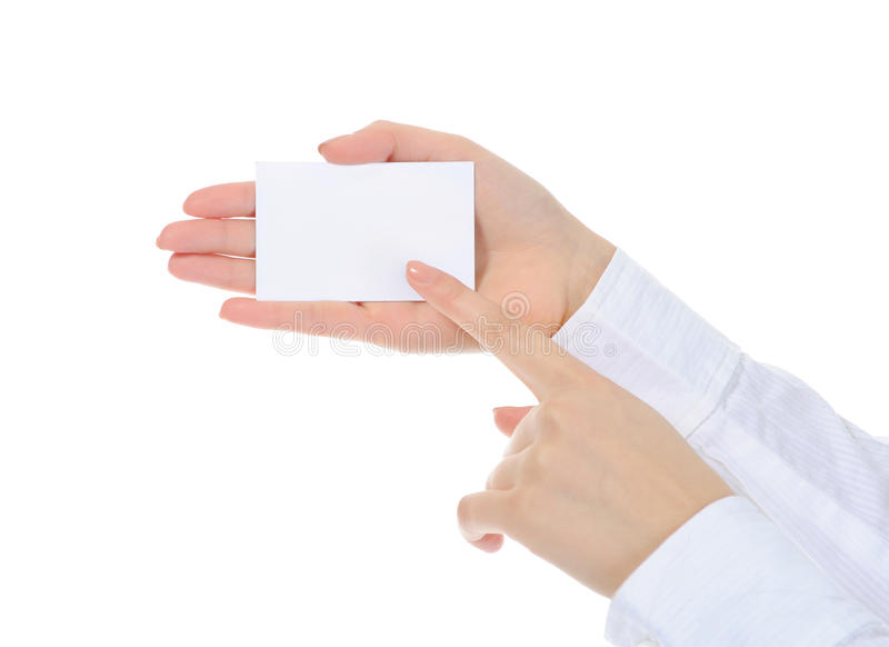 Download Card blank in a hand stock image. Image of greeting, business - 18383553
