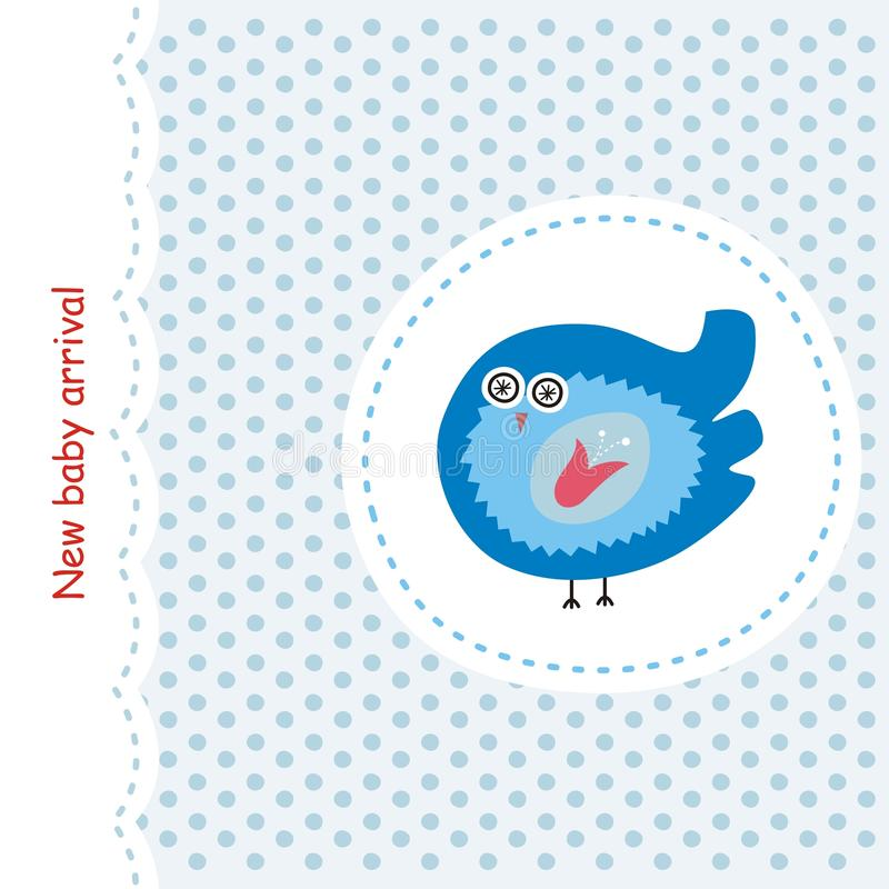 Download Card with blue bird stock vector. Image of easter, greeting - 18707875