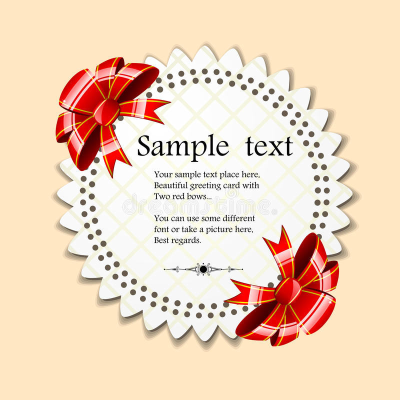 Download Card with bow stock vector. Image of invitation, paper - 28293979