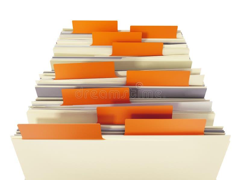 Card Catalog File Drawer. On white background stock illustration