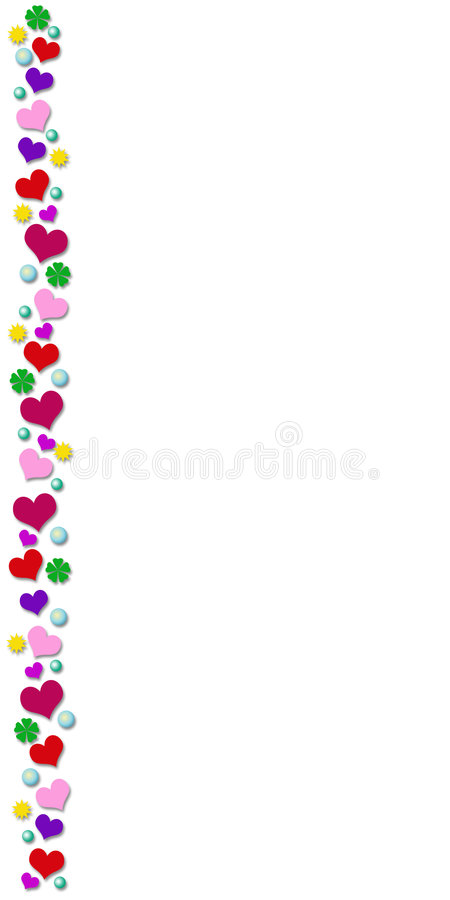 Download Card with colored border stock illustration. Image of heart - 7672682