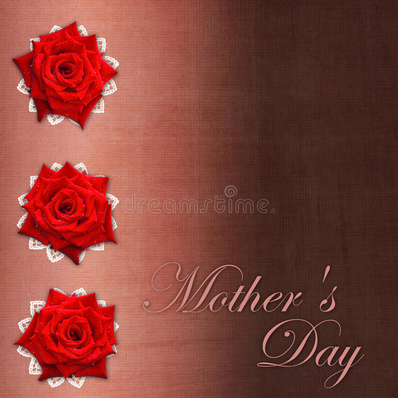 Download Card For Congratulation  For Mother`s Day Stock Illustration - Image: 25773505